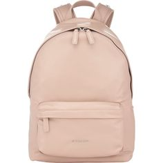 Givenchy Small Backpack (£1,165) ❤ liked on Polyvore featuring bags, backpacks, accessories, pink, givenchy, logo backpacks, flat backpack, star wars bag and pink duffle bag