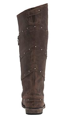 Liberty Black Women's Vintage Brown with Stud Wrap Tall Top Round Toe Western Fashion Boots | Cavender's