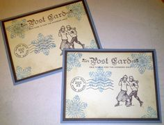 Stampin Up Winter Post by cricket3571 - Cards and Paper Crafts at Splitcoaststampers