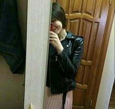 Uzzlang Girl, Girl Hijab, Besties, Leather Jacket, My Favorite Things, Cool Stuff, My Style, Snapchat, Sexy