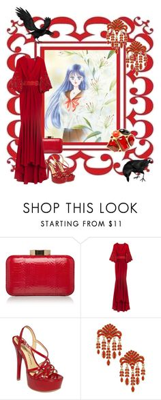 """HINO, Rei / Raye Hino"" by kuryakin ❤ liked on Polyvore featuring Lulu Guinness, Andrew Gn, Chinese Laundry, Dorothy Perkins, Fantasy Jewelry Box, red, sailor moon and sailor mars"