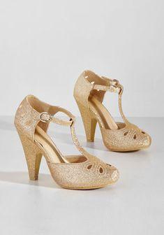 8be3659ecd9eb6 The Zest Is History Metallic Heel in Glittery Gold Gold Metallic Heels