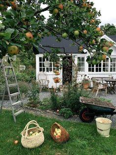 Cabin of comfort # comfort # garden design - Garten Dekoration Garden Living, Garden Cottage, Home And Garden, Farm Cottage, French Cottage, Garden Bed, English Cottage Style, Balcony Garden, English Cottage Interiors