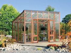 The Classic Vision Glasshouse - The newest edition to the glasshouse range has a very distinctive look which will bring a great presence to your garden, built with the finest western red cedar Glass House Garden, Glass House Design, Backyard Greenhouse, Greenhouse Plans, Greenhouse Pictures, Greenhouse Construction, Modern Greenhouses, Cold Frame, Diy Shed