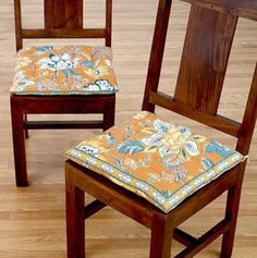 Dining Chair cushions with ties. | Dining Chair Cushions With Ties ...