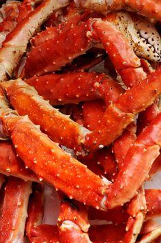 Crab Legs - a pound apiece w/ corn on the cob & slaw - Great Deals at www.AlaskaKingCrabs.com