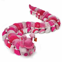 Buy the Large Alphabet Caterpillar Soft Toy ~ Pink 160cm & other quality kids toys & gifts. Flat rate postage Australia wide and FREE delivery over $150