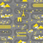 Vive Le Tour de France! fabric by zesti for sale on Spoonflower - custom fabric, wallpaper and wall decals