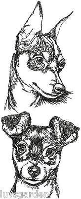Miniature-Pinscher-Dog-Breed-Graphic-Bathroom-HAND-TOWEL-SET-EMBROIDERED
