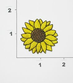 PATCHWORK PANDA LLC - Iron On Patch Applique - Sunflower Medium, $0.75 (http://www.patchworkpandatrims.com/iron-on-patch-applique-sunflower-medium/)
