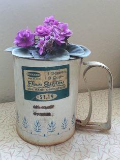 Vintage rustic shabby flour sugar sifter by RetrospectiveResale, $12.00
