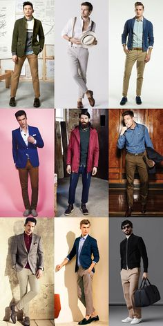 Men's Cotton Twill Trousers Outfit Inspiration Lookbook