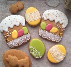 Royal Icing Cookies, Cake Cookies, Sugar Cookies, Hoppy Easter, Easter Eggs, Spring Cake, Cookie Time, Easter Cookies, Cookie Designs
