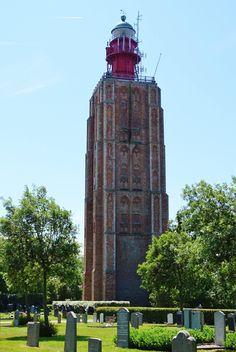 Vuurtoren Westkapelle lichtstraat van 36km, 52,3m hoog, 207 treden om boven te komen