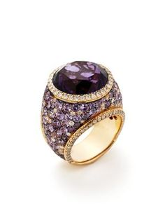 Amethyst and Purple Sapphire ring -- truly a STATEMENT!!