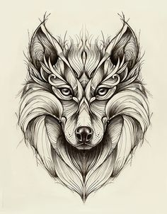 Wolf on Behance by Marta Adán