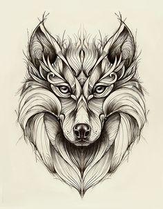 Graphic Design Blog — artmaniacsblog: Wolf by Marta Adán