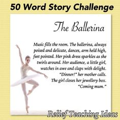 50 Word Stories - Students can only use 50 words to create a story (snapshot). This is a lesson in writing concisely!