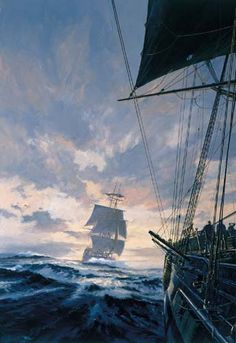 geoff hunt - Google Search Pirate Art, Pirate Life, Nautical Artwork, Old Sailing Ships, Between Two Worlds, Ship Paintings, Stormy Sea, Armada, Tall Ships