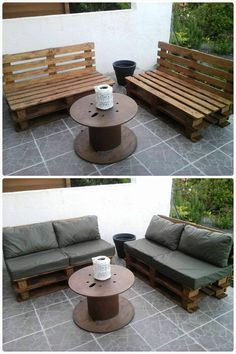 Pallet outdoor Sofa - Easy Pallet Ideas - Decor and Furniture | 99 Pallets