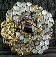 iradj moini jewelry | Iradj Moini Brooch/Pin of Amethsyt and Citrine in a Floral Shape Buy ...