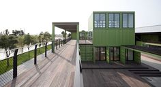 Hotel & Office Built Out Of Recycled Freight Containers On An Organic Farm
