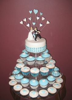 wedding cake cupcakes | Tracey's Cupcake Stand / Tower Hire - 5 Tier
