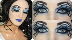 Todays video is a collaboration with Nyx Australia & Target Australia for a Halloween Makeup look. I decided to create a sexy vamp sp. Eyeshadow Designs, Eye Makeup Designs, Eye Makeup Art, Makeup Ideas, Halloween Spider Makeup, Halloween Eyeshadow, Halloween Halloween, Halloween Costumes, Cat Eye Makeup Tutorial