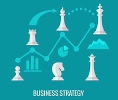 Business strategy with chess. Graphic Design Infographics. $5.00