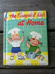 The Campbell Kids at Home 1954 Vintage Children's Cookbook/Storybook | eBay