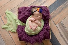This Herringbone Floordrop from Backdrop Express is perfect for newborn pictures! |  Photo Courtesy of Lynn Puzzo Photography