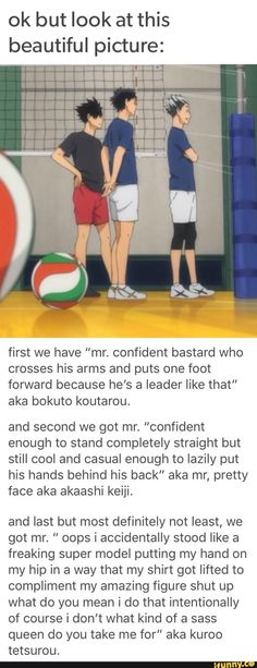 Actually I'd say that akaashi's body language is definitely closed off and maybe even a little insecure. The way he is holding his own hand could be an unconscious attempt at self comforting...Or mayb (Favorite Meme Laughing)