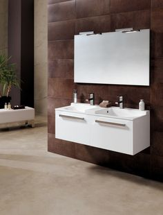Mueble de baño con doble seno, modelo Coloris de Bannio by Royo Group