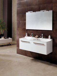 Mueble de baño con doble seno, modelo Coloris de Bannio by Royo Group