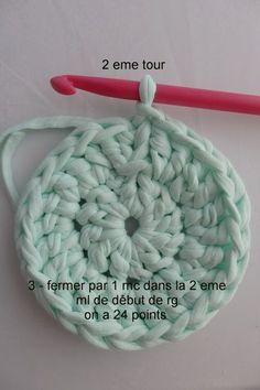 crocheter en rond et en brides