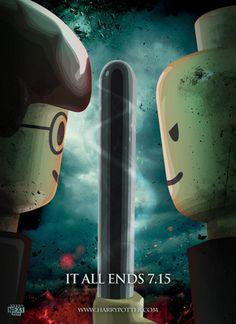 LEGO movie poster by NEXTMOVIE for final Harry Potter movie