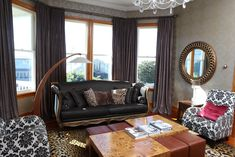 For this project I worked alongside an interior designer, and I was responsible for the production and installation (not, in this case, the fabric selection) of the window treatments. Soft Furnishings, Window Treatments, Windows, Curtains, Interior Design, Fabric, Projects, Vintage, Home Decor