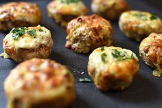 Stuffed Mushrooms- Two Ways
