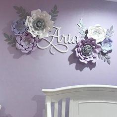 6 piece nursery paper flower set / paper flowers / nursery
