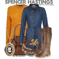 Inspired by Troian Bellisario as Spencer Hastings on Pretty Little Liars - Shopping info! Pll Outfits, Tv Show Outfits, Cute Casual Outfits, Polyvore Outfits, Fashion Outfits, Spencer Hastings Style, Pretty Little Liars Outfits, Character Inspired Outfits, Autumn Fashion