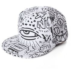 Men Women Hip-Hop Baseball Flat Bill Hat Graffiti Hippie Snapback... ( 700e0b24c71d