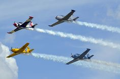 They are not the US Air Force Thunderbirds or the US Navy Blue Angels but they were very good.