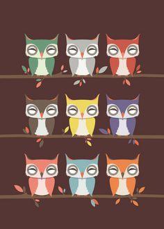 The Night Owls by Lucky 5 Pinned by www.myowlbarn.com