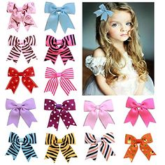 DUOQU 20 Colors 20 Pcs Baby Girl Ribbon Boutique Hair Bows Alligator Clips Fashion Hair Accessories For Teens Baby Girls Babies Toddlers *** Check out the image by visiting the link.-It is an affiliate link to Amazon.