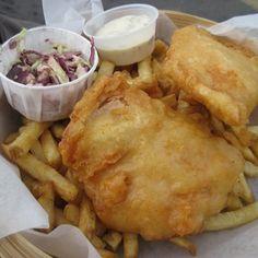 Go Fish Ocean Emporium - Fried salmon - Vancouver, BC, Canada