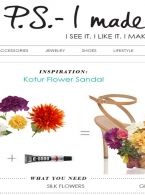 PS I made this | psimadethis.com | april 2014 | Kotur Silk Flower Sandal Shoes.