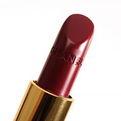 "Chanel Etienne (446) Rouge Coco Lipstick ($36.00 for 0.12 oz.) is described as an ""intense burgundy red."" It's a raspberry red with cool, pink undertones and a very soft, micro-shimmer and pearly sheen. It had semi-opaque color coverage, so there was translucency to the color that allowed the natural lip color to come through. The …"