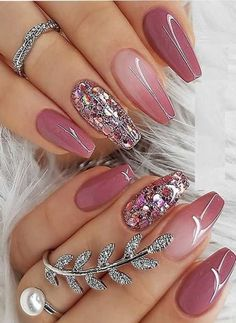 Pink Nail Art, Pink Nail Polish, Pink Nails, My Nails, Nail Nail, Nail Polishes, Top Nail, Green Nails, Cool Nail Art