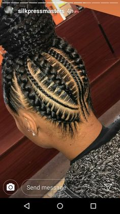 Beautiful Pictures of an Amazing Braided Hairstyles - goddess braids - # goddess Braids ponytail # Braids africanas gruesas Box Braids Hairstyles, Braided Ponytail Hairstyles, Feed In Braids Ponytail, Cornrows Updo, Box Braids Bun, Ponytail Styles, Corn Row Hairstyles, Cornrow Braid Styles, Choppy Hairstyles