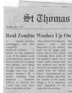 Paranormal And More For You: Real Zombie Washes Up On US Virgin Island Beach